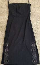 EXPRESS STRETCH STRAPLESS RAYON BLEND COCKTAIL DRESS SZ 3 / 4 FRENCH ROAST COLOR