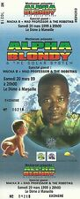 RARE / TICKET BILLET DE CONCERT - ALPHA BLONDY A MARSEILLE 1999 / COMME NEUF