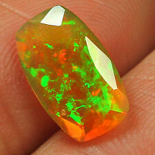 1.4CT 100% Natural Ethiopian Welo Opal Faceted Cut Play Of Color QOL7568