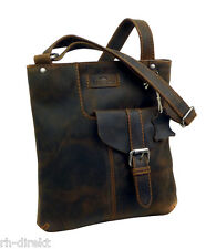 LandLeder  1011- CROSS-BODYBAG  Postbag Unisex vintage-Brown Tasche