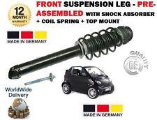 Per Smart Cabrio Coupe Anteriore Ammortizzatore + molla a spirale + montaggio + BUMP STOP