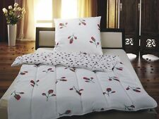 2tlg. Microfaser Bettenset Romantic Rose Bettdecke 135x200 + Kissen 80x80 cm