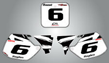 CR 500 1989 - 2001 Custom number plate graphics SAFARI style stickers / decals