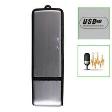 Mini 18 hours Voice Recorder Dictaphone 8GB USB 2.0 Flash Drive Disk Black