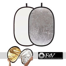 80x120cm -- 2in1 Multi Photo Collapsible Light Reflector Studio- SILVER / WHITE