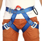 Rappelling Rock Climbing Harness Seat Safety Belt Rescue Downhill Equipment Blue