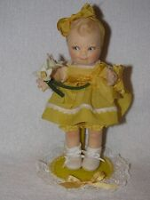 "R. John Wright Collectors Club 7"" Felt Sunshine Scootles Doll"