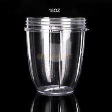 CLEAR TALL CUP 18 Oz FRUIT JUICE EXTRACTOR MUG FOR Nutribullet Nutri Bullet