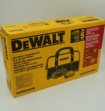 DeWalt 20V MAX 5.0Ah Lithium-Ion Battery & Charger Starter Kit W/ Contractor Bag