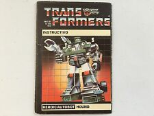 Transformers G1 1985 HOUND IGA (mexican) instructions book manual