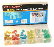 120Pc Auto Car ATM Mini Blade Fuses Automotive Fuse Assortment Kit