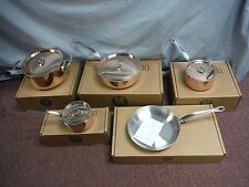 New Mauviel M'Heritage Copper with Stainless Steel Interior 9 Piece Cookware Set