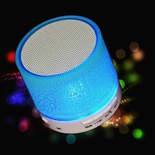 LED MINI A9 Portable Wireless Bluetooth Speaker TF USB Music Subwoofer Box Blue