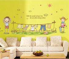 Summer child home Decor Removable Wall Sticker/Decal/Decoration