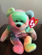 Rare Ty Beanie Baby Peace Bear Original Collectible with Tag Errors