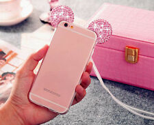 Pink Bling Diamond Mickey Mouse Clear Soft Case Cover for iPhone 7 Plus S002
