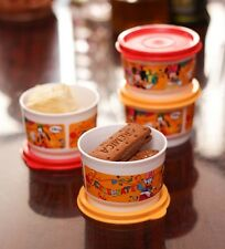 4 x Tupperware Disney Snacks Bowls Plastic Cup Lunch Bowl 150ml Each Brand New