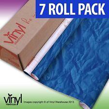 7 PACK di D-C-FIX Crush blu carta da stampa appiccicoso Vinile Autoadesiva - 45cm x 2m