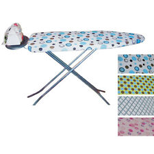 NEW FOLDING LIGHTWEIGHT IRONING TABLE BOARD STAND FOLDABLE ASSORTED DESIGNS