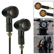 1 Pair of Motorcycle LED Turn Signal Light for Harley Cafe Racer Universal T9G3