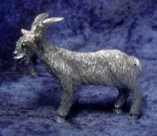 Pewter GOAT with Green CRYSTAL Eyes
