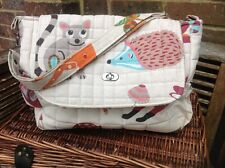 "Cushi cots Handmade baby changing bag ""Little critters"" new"