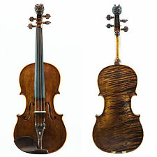 SKY4/4 Size Artist Violin Outfit Hand-made w Rosewood Parts Antique Dragon Head