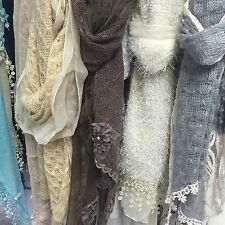 Mix Job lots Wholesale Lady Deluxe Lace Scarves High Fashion 12pcs