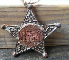 Sherif Star Christmas Ornament Resin 4 ""
