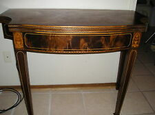Sheraton Style Inlaid Wood Console Dining Table