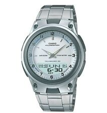 Casio AW80D-7A Men's Metal Band Silver Dial Analog Digital Telememo 30 Watch