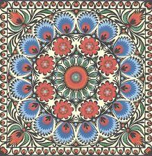 2 Serviettes en papier Décor Floral Rosace - Paper Napkins Floral design