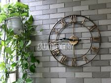 Wall Clock 47cm BERTHA Metal Industrial Big Vintage French Provincial