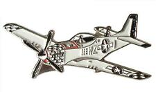 New WW2 WWII P51 American Mustang USAF USA Military Aircraft Metal Enamel Badge