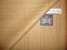 100%PURE NEW WOOL COUNTRY TWEED,CLASSIC WINDOWPANE DESIGN JACKETING FABRIC-2.05m