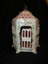 Italy Hexagonal Bird Cage Faience Majolica Early-Mid 20th Century
