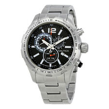 Nautica NST 30 Chronograph Black Dial Mens Watch NAI18504G