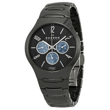 Slagen Black Dial Multifunction Black Ceramic Mens Watch 817SXBC1
