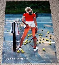 EXPOSE YOURSELF TO TENNIS 1980 Poster Sexy Girl Butt HEAD SHOP HUMOR