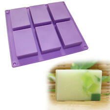 Plain Basic Rectangle Lotion Soap Bar Mold Silicone Soap Making Supplies
