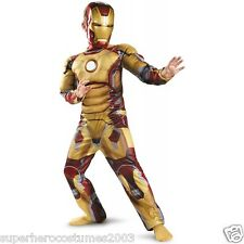 Iron Man 3 Mark 42 Muscle Costume ARC REACTOR GLOWS INCLUDES GLOVES! 7-8 - 68580