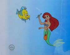 Disney Princess Original Animation Art Cel Little Mermaid Ariel & Flounder