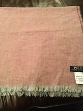 Ralph Lauren Polo Pink Tweed Design Scarf D12 226