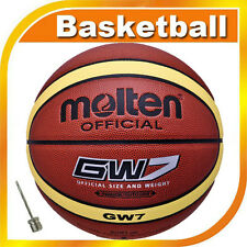 Men Leather Molten Official Size Weight Indoor Composite 29.5'' Basketball GW7