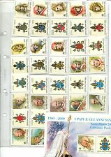 VATICAN   I PAPI DEGLI ANNI SANTI  HOLY YEARS' POPES STAMPS MNH** - 1998 - 2000