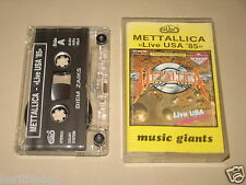 METALLICA - Live USA '85 - MC Cassette polish tape ELBO press 1990/1335
