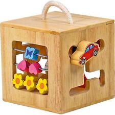 Boîte à formes d'éveil multi jeux en bois  - ULYSSE