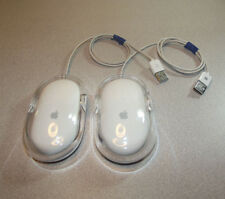 Lot of 2 WHITE APPLE Laser Optical Mouse M5769 USB Wired for Mac Pro or iMac