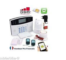 Kit Alarme Maison Sans Fil GSM SMS Auto Appel Antivol 1-99 Zones Francais
