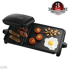 George Foreman 18603 Entertaining 10 Portion Grill and Griddle Black - Brand New